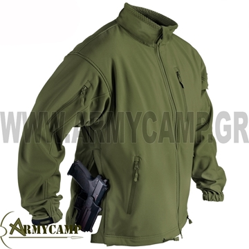 BL-JCK-FS JACKAL QSA SOFTSHELL HELIKON-TEX COYOTE BLACK  O.D COLOR