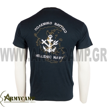 Picture of T-SHIRT HELLENIC NAVY WITH MAP OF HELLAS