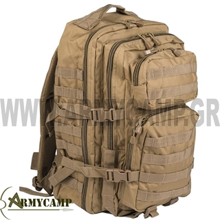 140022 COYOTE MILTEC US ASSAULT PACK LARGE COYOTE ΤΣΑΝΤΑ ΠΛΑΤΗΣ ΣΑΚΙΔΙΟ ΗΜΕΡΑΣ MOLLE ΣΤΡΑΤΙΩΤΙΚΟ ΠΡΟΣΦΟΡΑ