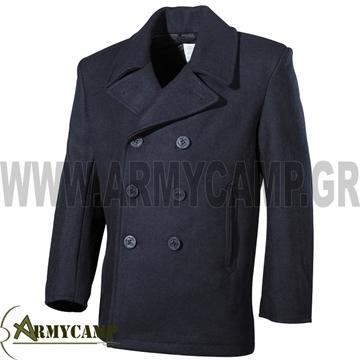 επενδύτης ναύτη μάλλινος τζακετ ναυτικου μαλλινο παλτό ναύτη με επένδυση ΜΠΛΕ ΣΚΟΥΡΟ ΜΑΥΡΟ  us-pea-coat-black-navy-blue-black-plastic-buttons-GREECE