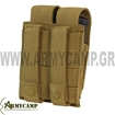 DOUBLE PISTOL MAG POUCH MOLLE BLACK BY CONDOR MA23