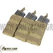 TRIPLE OPEN TOP M4 MAG POUCH COYOTE DIPLH GEMISTHRWN M4 M16 SE SEIRA MOLLE