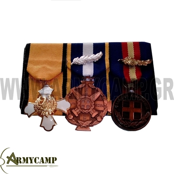 Picture of MEDALS WITH RIBBONS SWEING HOOK N LOOP BACK