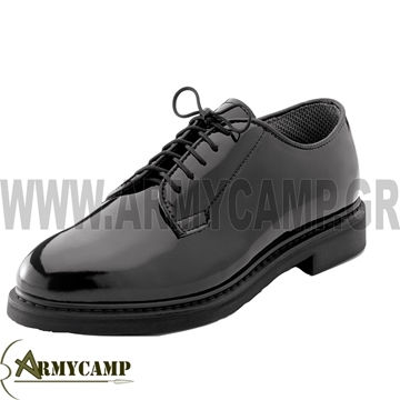 Picture of HIGH GLOSS MILITARY DRESS OXFORD SHOES