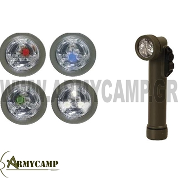ΣΤΡΑΤΙΩΤΙΚΟΣ ΦΑΚΟΣ ΤΥΠΟΥ Γ LED LED ANGLE TORCH MILITARY LED GI FLASHLIGHT HIGHLANDER