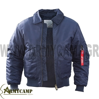 Picture of FLIGHT JACKET MADE BY SURVIVORS-BLUE