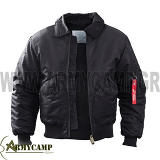 Picture of FLIGHT JACKET MADE BY SURVIVORS-BLACK