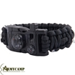 WA-022BK WITH-ARMOUR EUROPE GREECE PARACORD BRACELET SURVIVAL WHISTLE