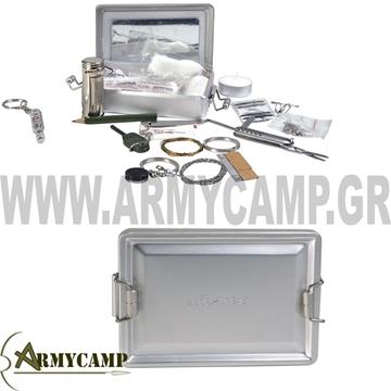combat-survival-kit-aluminium-box ΚΙΤ ΕΠΙΒΙΩΣΗΣ ΣΕ ΚΟΥΤΙ ΑΛΟΥΜΙΝΙΟΥ ΣΤΡΑΤΙΩΤΙΚΟ MILTEC