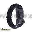 PARACORD BRACELET WHISTLE THERMOMETER 550LBS  ΒΡΑΧΙΟΛΙ ΕΠΙΒΙΩΣΗΣ 5 ΣΕ 1