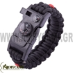 SURVIVAL BRACELET SPECIAL OFFER PARACORD 550LBS WHISTLE FIRE STARTER  COMPASS ΒΡΑΧΙΟΛΙ ΕΠΙΒΙΩΣΗΣ 5 ΣΕ 1
