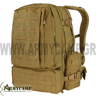 3-DAY ASSAULT PACK COYOTE 55L. CONDOR 1000 DENIER WATERPOOF