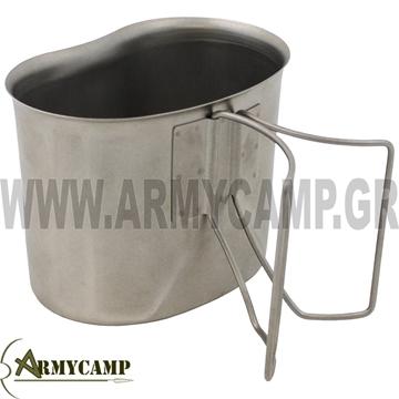 CANTEEN CUP ALUMINIUM FOR MILITARY WATER BOTTLE KYPELO ALOUMINIOU GIA PAGOURI STRATIOTIKO ME XEROULI 33372 mfh max fuchs
