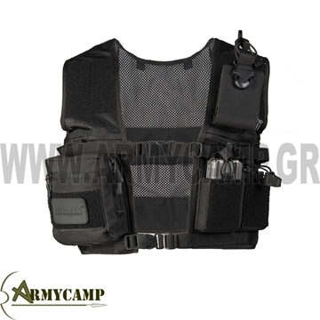 LIGHTWEIGHT BLACK INNER SECURITY VEST MILTEC