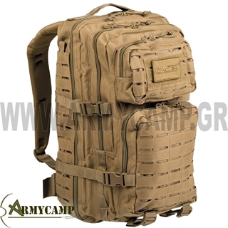 140022 COYOTE MILTEC US ASSAULT PACK LARGE COYOTE ΤΣΑΝΤΑ ΠΛΑΤΗΣ ΣΑΚΙΔΙΟ ΗΜΕΡΑΣ MOLLE ΣΤΡΑΤΙΩΤΙΚΟ ΠΡΟΣΦΟΡΑ LASER CUT ΤΣΑΝΤΑ ΠΛΑΤΗΣ ΜΗΧΑΝΗΣ