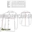 measurements διαστασολογιο μεγεθολογιο πουκαμισο-στολησ-εργασιασ-ν10-πολεμικου-ναυτικου-ανδρικο-υποβρυχιακη-αγγαρειασ mens-duty-uniform-of-hellenic-navy-n10-us-shirt-longsleeve-brandit-greece-ebay-amazon