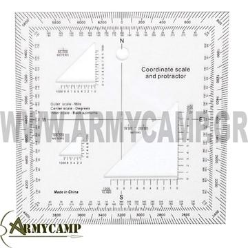 προτρακτορασ-στρατου-ευελπιδων-χαρτησ-στρατιωτικοσ-οδηγοσ-πυξιδα-προτρακτορασ-προτράκτωρας Military Coordinate Scale Protractor 1177 rothco-NAVIGATION-MAP-MILITARY